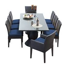 All Weather Wicker Patio Dining Sets - tk classics napa 9 piece wicker dining set with cushions modern