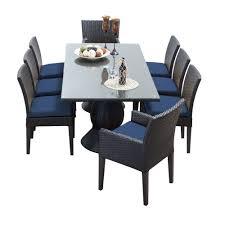 Wicker Dining Patio Furniture Tk Classics Napa 9 Piece Wicker Dining Set With Cushions Modern