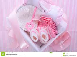 Pink Cocktails For Baby Shower - its a pink theme baby shower gift box stock photo image