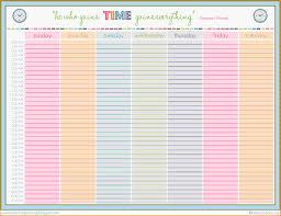 week schedule template sogol co