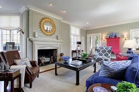 living room navy blue sofa traditional living room design with