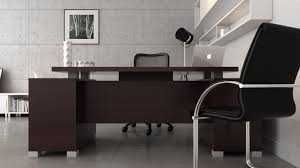 Office Modern Desk by Ford Executive Modern Desk With Filing Cabinets Dark Wood Finish