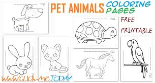 pets coloring page printable pet animals coloring pages