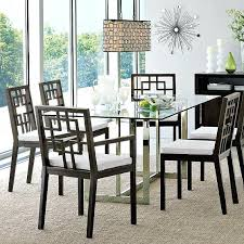 Coaster Rectangular Dining Table With Glass Top Metal Legs Silver Glass Top Dining Room Tables Rectangular
