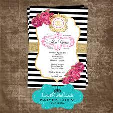 Quinceanera Invitation Cards Chanel Inspired Quinceanera Invites Fashion Couture
