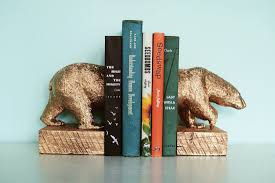 Book End How To Make Gilded Polar Bear Bookends Brit Co