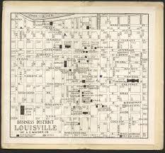 Portland Street Map by Old Maps Of Louisville