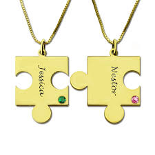 best friends puzzle necklace images Wholesale personalized puzzle necklace engraved names birthstone jpg
