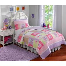 Girls Bedroom Quilt Sets Happy Owls Bedding Quilt Set Walmart Com
