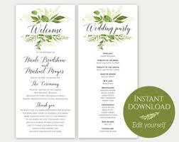 Wedding Program Templates Fans Fan Program Template Fan Wedding Program Ceremony Program