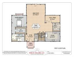 floor plans with great rooms timber frame floor plan with three different architectural style