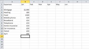 Basic Spreadsheet How To Budget Your Money In Excel Tech Advisor