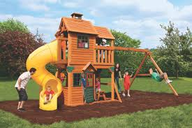 panorama wooden climbing frame a home to grow and love in