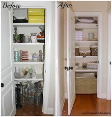 makeshift linen closet