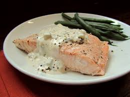 champagne poached salmon with champagne cream sauce cooking with