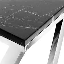 eichholtz galaxy modern classic black marble triangular side end