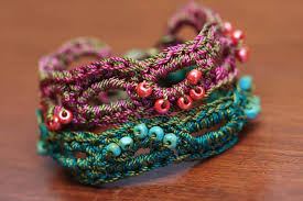 bracelet crochet patterns images 60 free vintage crochet jewelry ideas diy to make jpg
