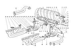 testarossa exhaust testarossa 1987 exhaust system for u s sa and ch87