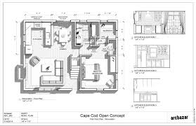 cape cod home floor plans house plans 1940s cape cod home with open floor concept keywords