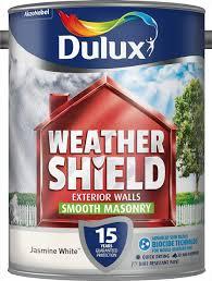 dulux weather shield smooth masonry paint 5 l jasmine white