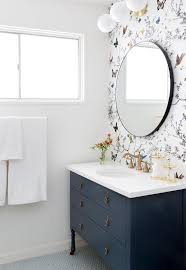 wallpaper in bathroom ideas 7 dreamy bathroom before and afters the effortless chic a