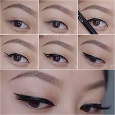liquid eyeliner tutorial asian 31 best eye on liner images on pinterest hair dos hair makeup and