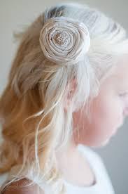 flowergirl hair flower girl hair clip with rhinestone detail in ivory white