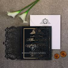 foil wedding invitations luxe lavish laser cut and foil wedding invitation