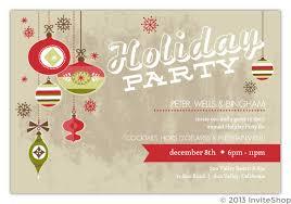 retro ornaments business invitation