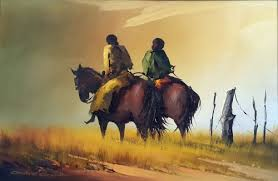 paintings andre grobler riders on horseback a stunning oil