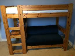 High Sleeper With Sofa Pine Stompa High Sleeper Cabin Bed With Built Pull Out
