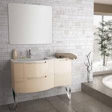 53 inch modern floating bathroom vanity sand glossy finish