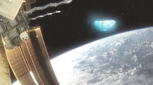 major leak iss astronauts filmed massive ufo with glowing lights