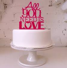 all you need is cake topper all you need is modern wedding cake topper by miss cake
