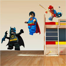 lego superhero set superman spiderman batman wall stickers lego superhero set superman spiderman batman wall stickers childrens bedroom ebay