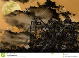 haunted halloween mansion stock photo image 3264640