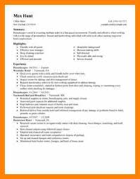 Hotel Resume 100 House Keeper Resume Hospitality Housekeeper Resume Example