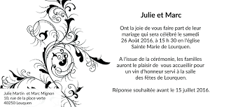 lettre pour mariage carte d invitation mariage baroque
