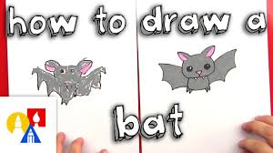 how to draw a cartoon bat youtube
