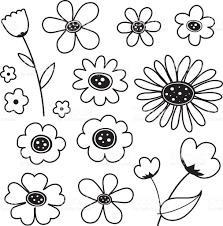 flower cartoon cute black icon vector stock vector art 529772259