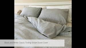 striped duvet cover handmade in natural linen by superior custom