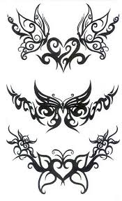 tribal butterfly tattoos designs modification tribal butterfly