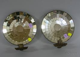 Tin Wall Sconce Pair Of Mirrored Tin Candle Wall Sconces Sale Number 2381 Lot