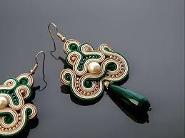 soutache earrings 483 best earring in ivory soutache images on