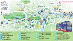 Edinburgh Map Hop On Hop Off Bus London Route Map London Map