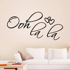 aliexpress com buy ooh la la paris france hearts love vinyl wall