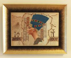 nefertiti bead embroidery silk art unframed picture wall hangings