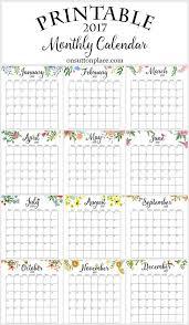 printable calendar free printable 2017 calendars free printable