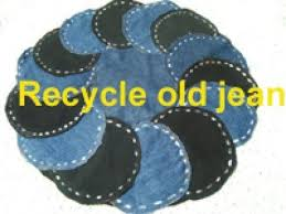 petit mat iel de bureau recycle demin to rug table mat carpet coaster cushion cover
