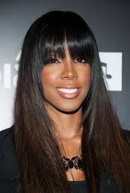sew in weaves with bangs kelly rowland full sew in weave with fringe hair styles within the